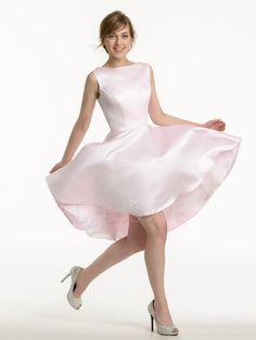 e40ce5da5b Barato Alta Baixa de Casamento Da Dama de Honra Vestidos Moda Mulheres Roxo  de Cetim Rosa
