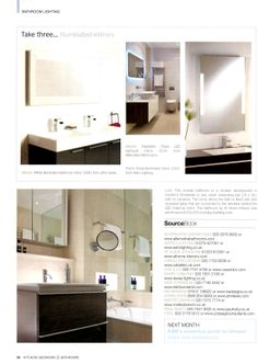 Mastella s Dress LED surround mirror from Alternative Bathrooms  http alternativebathrooms com KitchensThe Lacrima bath is made from a super strong composite called  . Essential Kitchen And Bathroom Business Magazine. Home Design Ideas