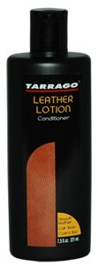 TARRAGO LEATHER LOTION Cleans, protects, prepares, shines and conditions. For smooth leather, vinyl and patent. Presentation 220 ml. bottle.