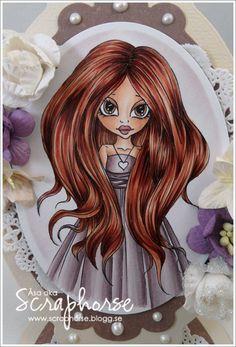 Skin: E13-11-21-00-000  Cheeks: R22-11  Lips: R83-E04  Hair: E18-15-13-11  Dress: V95-93-91