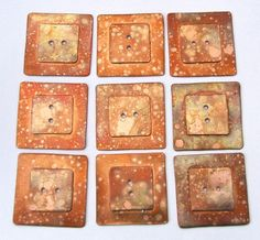 Square Buttons - $12.00