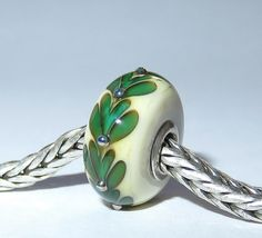 Luccicare Lampwork Bead - Twig II -  Lined with Sterling Silver by Luccicare on Etsy