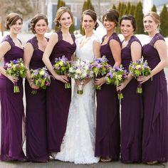 5bf31933f9715 Purple Bridesmaid Dress with Beautiful Cowl Neck