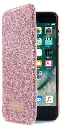 Ted Baker London Glitsie Iphone 6/6S/7 Mirror Folio Case - Pink