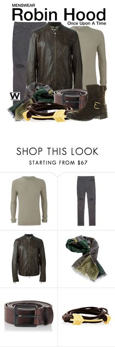 """""""Once Upon a Time"""" by wearwhatyouwatch ❤ liked on Polyvore featuring J.Lindeberg, Julius, Belstaff, Dondup, Diesel, Catherine Canino Jewelry, Clarks, television, wearwhatyouwatch and menswear"""