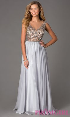 Prom Dresses, Plus Size Dresses, Prom Shoes: Sleeveless Floor Length Dave and Johnny Dress