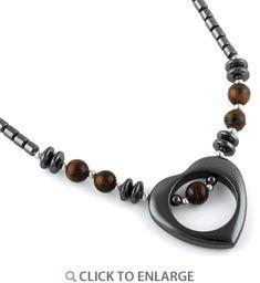 """18"""" Open Heart Tiger Eye Stone #HematiteNecklace * $6.41 Tiger Eye Jewelry, Hematite Necklace, Eye Stone, Making Ideas, 18th, Jewelry Making, Beaded Bracelets, Craft Ideas"""