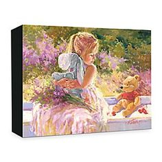Disney ''Sunny Window'' Giclée on Canvas by Irene Sheri | Disney Store''Sunny Window'' Gicl�e on Canvas by Irene Sheri - Eeyore gets a warm hug from a young girl while Winnie the Pooh sits beside her on the window sill in this charming gicl�e. Created by artist Irene Sheri, the limited edition ''Sunny Window'' is gallery wrapped on canvas.