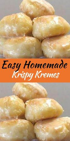 Easy Homemade Krispy Kremes Ingredients 3 tablespoons milk 3 tablespoons boiling water 1 teaspoon dry active yeast 8 ounces all-purpose flour ( a little under 2 cups, I recommend you measure and weigh) 1 ounces sugar (about 3 tablespoons) 1 egg 1 Donut Recipes, Brunch Recipes, Baking Recipes, Sweet Recipes, Fun Recipes, Keto Recipes, Healthy Recipes, Delicious Donuts, Delicious Desserts