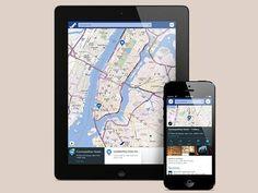 O aplicativo Here Maps, da Nokia, que teve sua versão liberada para Android, iPad e iPhone.