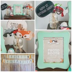Photo booth from a Wild & One First Birthday Party on Kara's Party Ideas | KarasPartyIdeas.com (8)