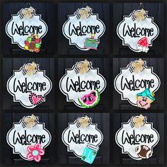 Burlap Door Hangers Diy Spring Etsy 45 Ideas For 2019 Painted Doors, Wooden Doors, Wooden Signs, Burlap Door Hangers, Letter Door Hangers, Teacher Door Hangers, Custom Door Hangers, Hanger Crafts, Door Hanger Template
