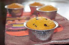 Muffin alla zucca e mandorle con gocce di cioccolato