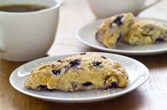 Blueberry-White Chocolate Chunk Scones (The BEST one - not too sweet) Kraft Recipes, Kraft Foods, Baking Recipes, Dessert Recipes, Scone Recipes, Baking Ideas, Pastry Blender, Food To Go, Peanut Butter Banana