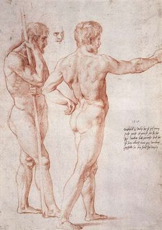 Nude Study, 1515 Raphael - by style - High Renaissance