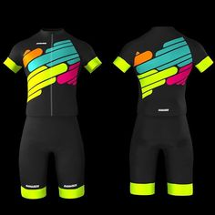 Seductive colors and washable jersey sets. Cycling Tops, Cycling Wear, Cycling Girls, Cycling Jerseys, Cycling Outfit, Cycling Clothes, Tri Suit, Bike Kit, Urban Bike