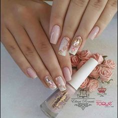 Natural Coffin Nail Art Designs Ideas are so perfect for Hope they can inspire you and read the article to get the gallery. Cute Acrylic Nail Designs, Cute Acrylic Nails, Cute Nails, Pretty Nails, Nail Art Designs, Sexy Nails, Glam Nails, Pink Nails, Beauty Nails