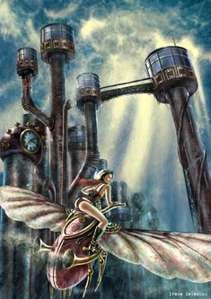 Escape this steampunk city by ftourini in Showcase Of Incredible Steampunk Artworks