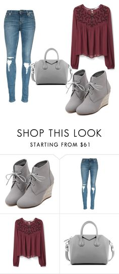 """Untitled #1481"" by marta-moreno-1 ❤ liked on Polyvore featuring WithChic, MANGO and Givenchy"