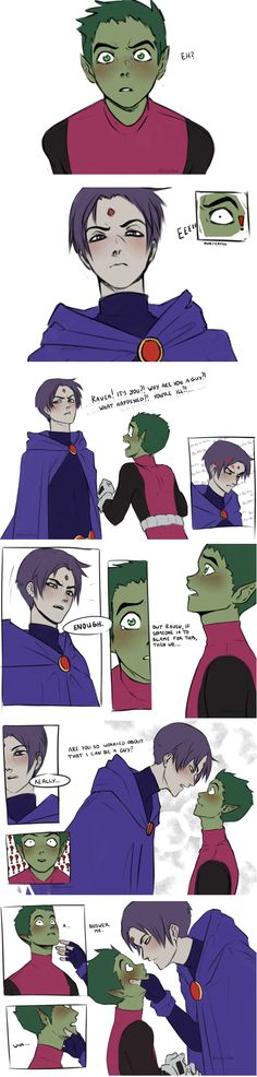 The moment Beast Boy realized he was in love with Raven.