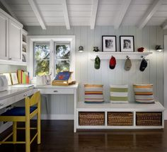 Put your home office in the mudroom to save space
