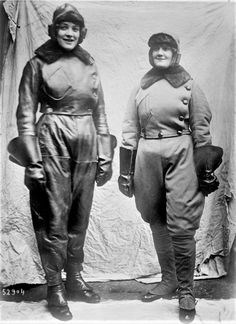 "observationballoons:  ""Women pilots in flying suits  """