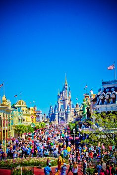 Blue skies at Disney! - It's a Disney World!