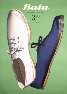 By Herbert Leupin (1916-1999), 1949, Bata shoes.