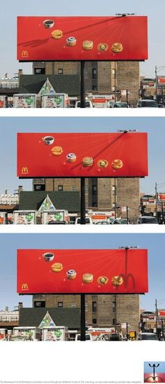Brilliant Advertisement - McDonald's clock hand billboard