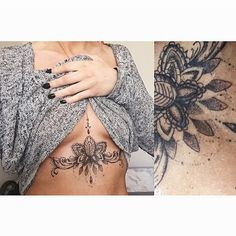 my new sternum tattoo! absolutely love all the dotwork, and love that no one else will have one the same
