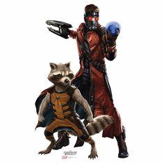 Star Lord And Rocket Raccoon Cardboard Cutout