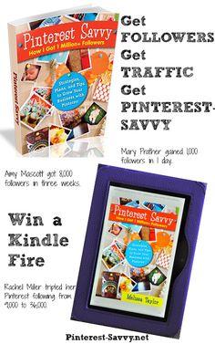 How I Got 1 Million  Followers on Pinterest Kindle Fire Giveaway