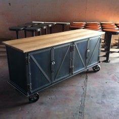 """72"""" W Ellis Sideboard with worn oak top"""