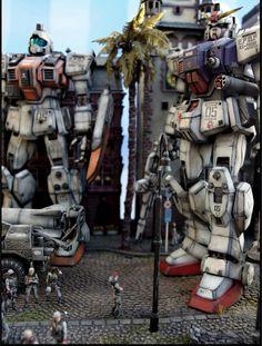 MG Gundam Ground Type Opeation Odessa Counter Attack - Diorama Build Modeled by Mannen Gundam Toys, Gundam Art, Gunpla Custom, Custom Gundam, Ground Type, Astray Red Frame, Sf Movies, Gundam Astray, Gundam Mobile Suit