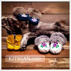 #Handmade and #OOAK. Checkout Kitigan.com for all your #moccasin and #gift needs. #leather #fur #NativeCanadian #Toronto #NativeART #mocmonday #beading #powwow