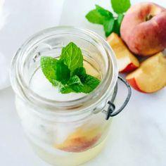 Peach Mint Mojito - Get Healthy U Mint Mojito, Beverages, Drinks, Slushies, Get Healthy, Peach, Nutrition, Recipes, Food