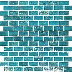 Found it at Wayfair - Onix USA Geo Glass Brick x Glass Mosaic in Blue Blue Glass Tile, Glass Brick, Aqua Glass, Glass Mosaic Tiles, Clear Glass, Glass Art, Tiffany Blue, Best Floor Tiles, Blue Mosaic