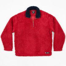 Southern Marsh Appalachian Pile 1/4 Zip Fleece - Washed Red