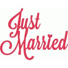 Silhouette Design Store - View Design just married script lettering title Silhouette Cameo, Silhouette Cutter, Wedding Silhouette, Silhouette Online Store, Silhouette Files, Wedding Wishes Quotes, Scan And Cut, Script Lettering, Vinyl Projects