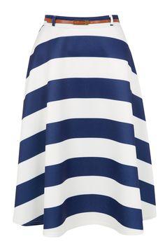 Primark Belted Scuba Striped Skirt - Primark Spring Summer 2014