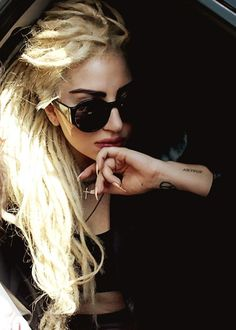 Lady Gaga Blonde Dreadlocks - #Celebrity