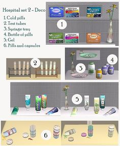 Hospital set 2 - Clutter and working pregnancy test