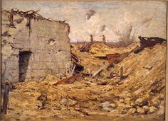 Nugent Welch, German Pillbox on Upper Sector, 1918.