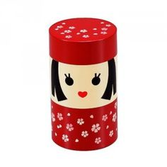 Kokeshi Tea can, but I use it to store by cotton balls