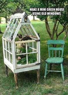 mini greenhouse using old windows