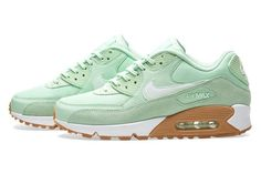 Designer Clothes, Shoes & Bags for Women Sneakers Outfit Casual, Green Sneakers, Air Max Sneakers, Sneakers Fashion, Casual Outfits, Sneakers Nike, Air Max 90, Nike Air Max, Shoe Game