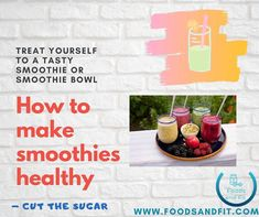 Learn how to make healthy smoothies, common mistakes made when building a smoothie & the best ingredients to add to meet your protein, fat & carbohydrate targets.   Sure, it's easy to pick up a smoothie in a supermarket or at a smoothie bar, but if you look at the nutritional value, you're guaranteed to find that they have extortionate levels of sugar.   Hazard a guess as to how many teaspoons of sugar are in a 250ml serving of a seemingly healthy smoothie?  #FoodsandFit #Smoothie #Foodie How To Make Smoothies, Yummy Smoothies, Healthy Drinks, Healthy Foods, Healthy Recipes, Low Calorie Diet, Low Calorie Recipes, Low Sugar Diet, Muscle Building Diet