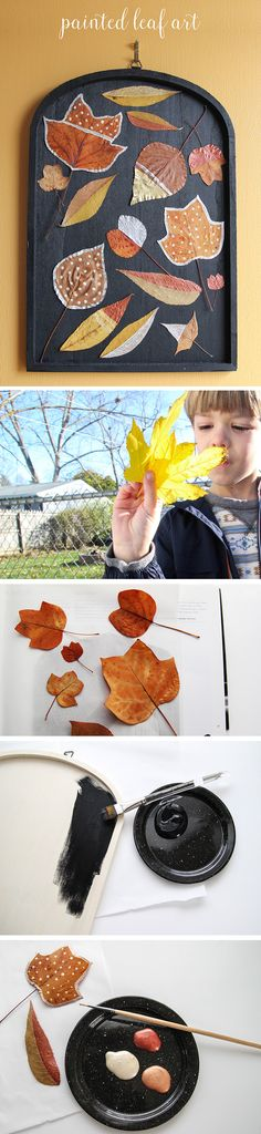 Everyone loves collecting beautiful leaves when autumn arrives, but we can seldom find anything to do with them before they wrinkle and brown. This DIY Painted Leaf Art is the perfect solution. It gives you a beautiful piece of fall art to add to your home decor, and gives your little ones a kid-friendly activity for their collection.