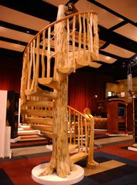 Log spiral stairs as a work of art – StairMeister Log Works of Ft. Lupton, CO
