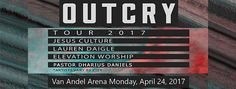 OUTCRY: Spring 2017 champions, represents and promotes the local church: the Bride of Christ. The tour will highlight the creativity, heart and mission of the local church. Featuring a unique combination of artists and worship leaders, OUTCRY: Spring 2017 Tour provides attendees with a rare opportunity to see this group of artists together on one stage. Artists teaming up for the OUTCRY: Spring Tour 2017 include Jesus Culture, Lauren Daigle, Elevation Worship and Pastor Dharius Daniels.